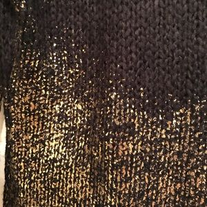 Piperlime Sweaters - Piperlime | Black Sweater with Gold Metallic Paint